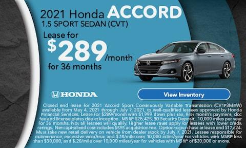 2021 Honda Accord 1.5 Sport Sedan (CVT)