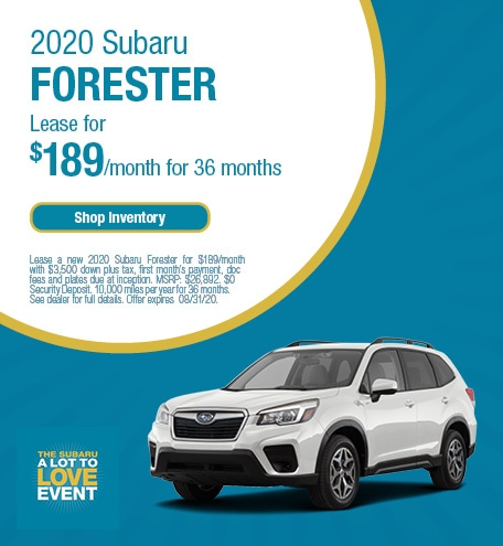 New 2020 Subaru Forester