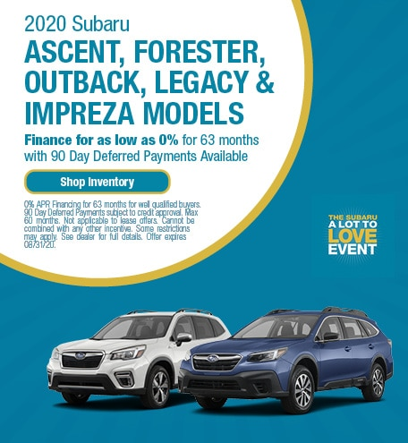 Subaru Ascent, Forester, Outback, Legacy, and Impreza Specials
