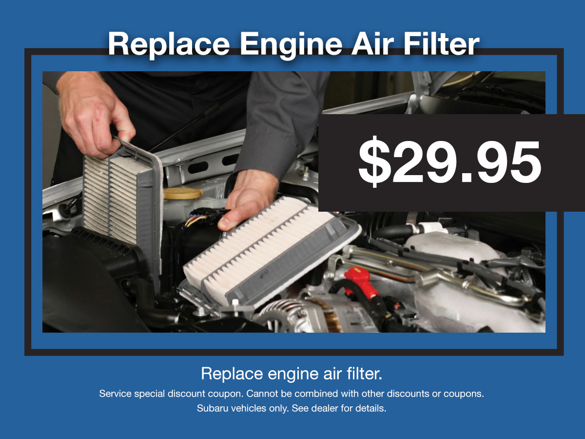 Subaru Engine Air Filter Coupon