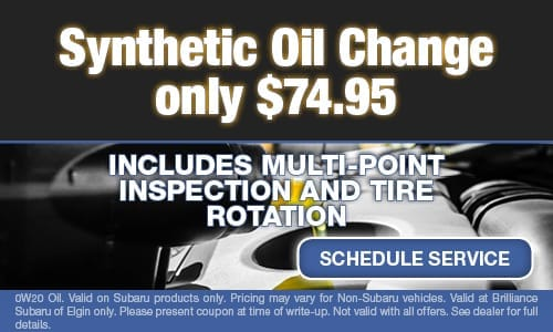 Synthetic Oil Change Only $74.95