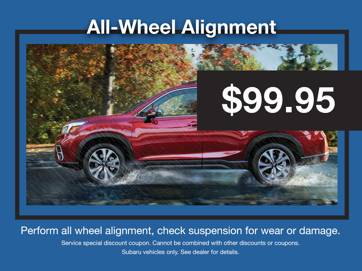 Subaru All-Wheel Alignment Coupon