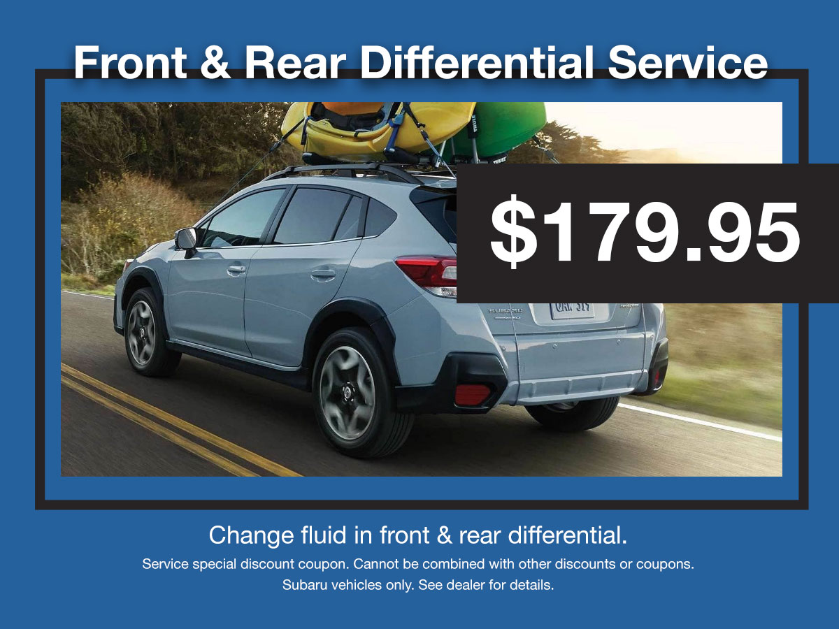 Subaru Differential Service Coupon