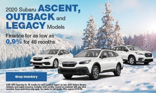 2020 Ascent, Legacy, Outback Financing