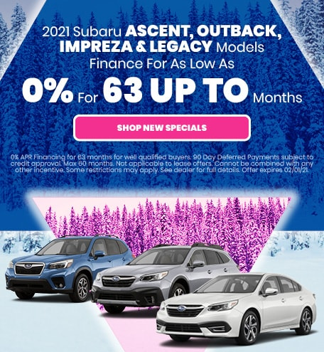 2021 Subaru Ascent, Outback, Impreza & Legacy Models