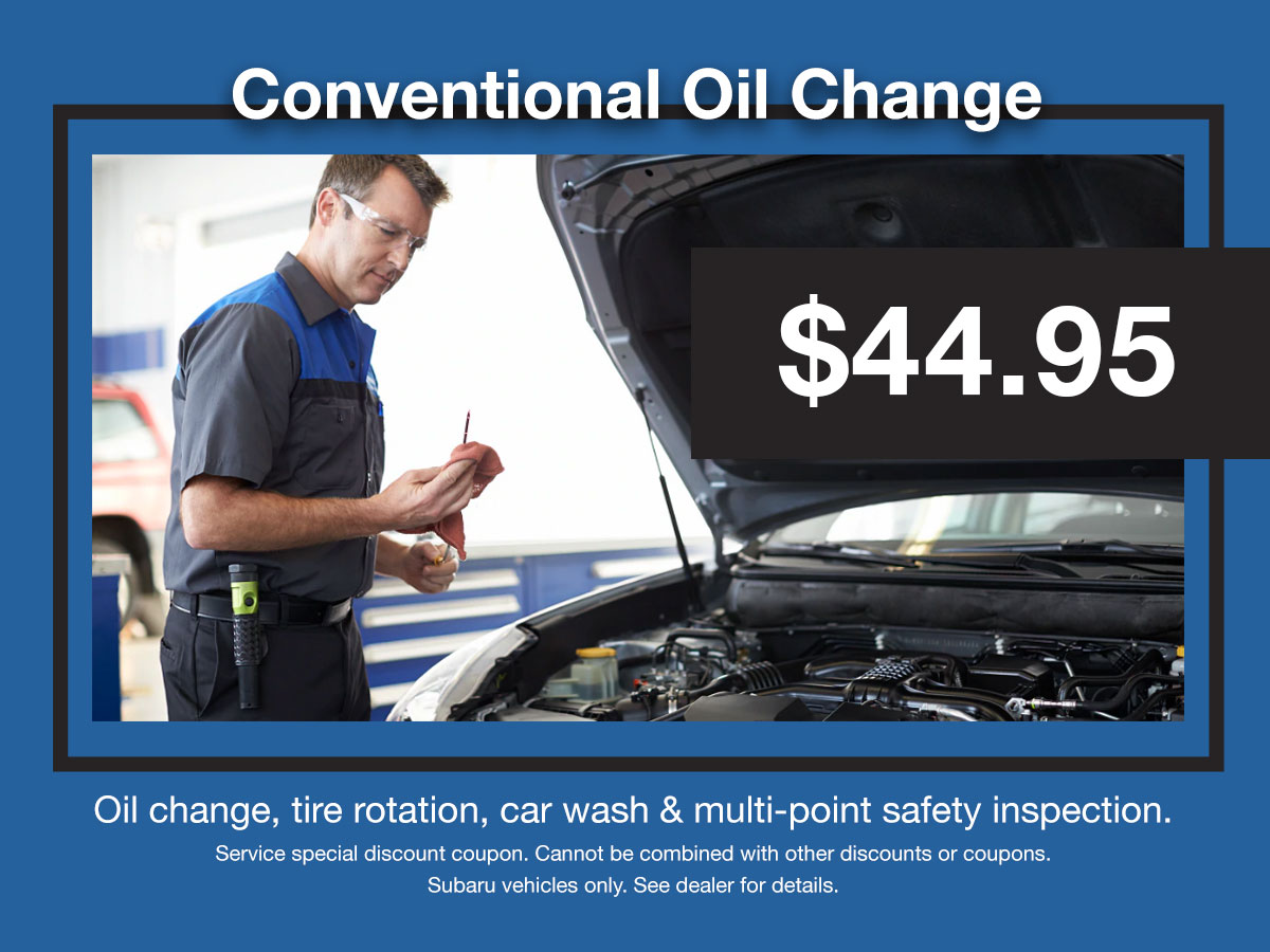 Subaru Conventional Oil Change Service Coupon