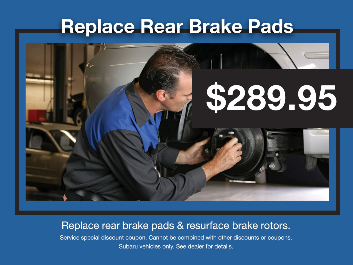 Subaru Rear Brake Service Coupon