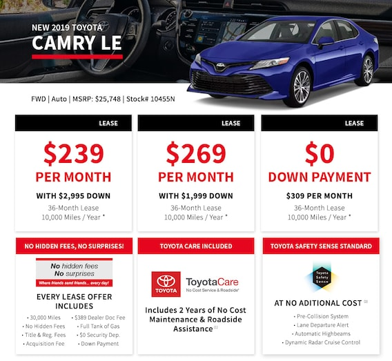 Car Leases Under 200 >> 0 Down Lease The Real No Money Down Lease At Bristol Toyota