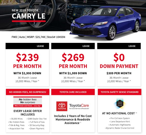 2 Year Car Lease >> 0 Down Lease The Real No Money Down Lease At Bristol Toyota