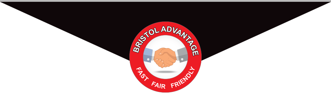 smiling couple signing up for Bristol Toyota Advantage