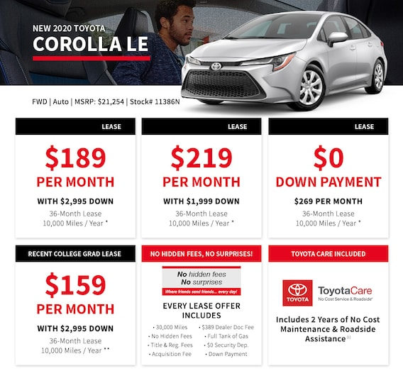 No Money Down Lease Deals >> 0 Down Lease The Real No Money Down Lease At Bristol Toyota