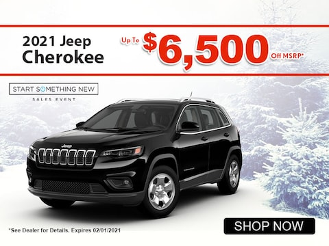 2021 Jeep Cherokee up to $6,500 off MSRP*