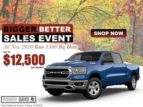 All New 2020 Ram 1500 Big Horn Up To $12,500 Off MSRP*