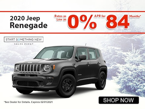2020 Jeep Renegade rates as low as 0% APR for 84 Mos*
