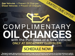 Complimentary Oil Changes with Purchase of a New Vehicle!