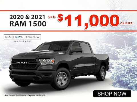 2020 & 2021 RAM 1500 up to $11,000 off MSRP*