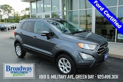 Certified 2019 Ford EcoSport SE SUV MAJ6S3GL6KC275501 for sale in Green Bay, WI