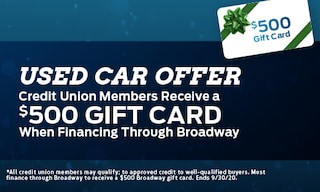 Used Car Offer - $500 Gift Card