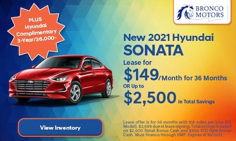 New 2021 Hyundai Sonata- April