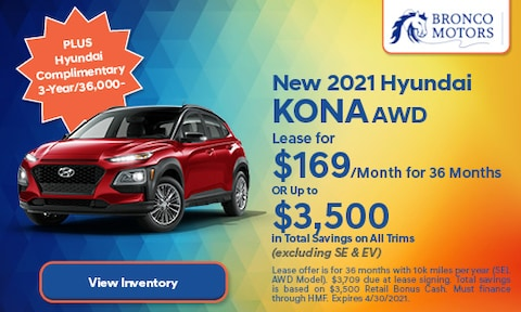 New 2021 Hyundai Kona AWD- April