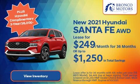 New 2021 Hyundai Santa Fe AWD- April