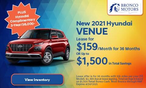 New 2021 Hyundai Venue- April