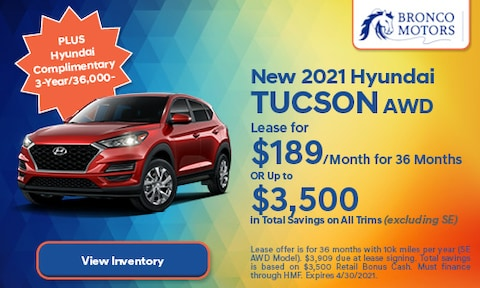 New 2021 Hyundai Tucson AWD- April