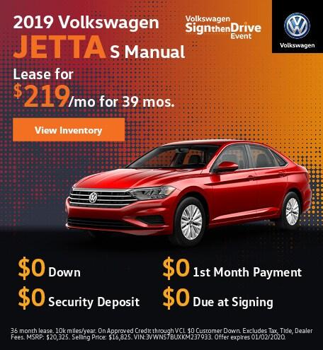 2019 Volkswagen Jetta S Manual