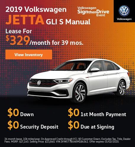 2019 Volkswagen Jetta GLI S Manual