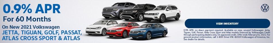 New 2021 Volkswagen Jetta, Tiguan, Golf, Passat, Atlas Cross Sport & Atlas