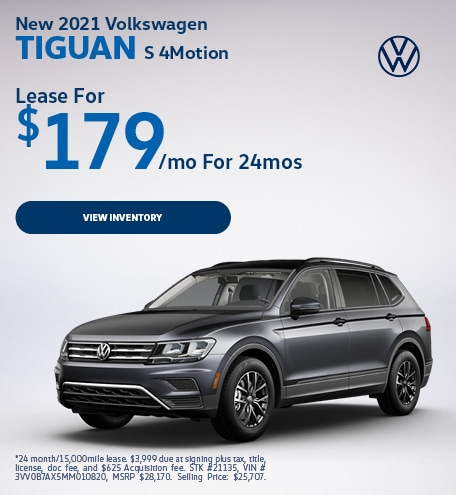 New 2021 Volkswagen Tiguan S 4Motion
