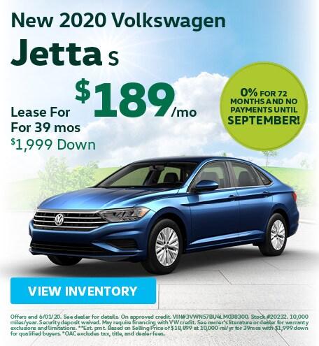 May New 2020 Volkswagen Jetta S Lease
