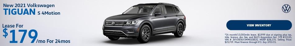 New 2021 Volkswagen Tiguan S 4Motion