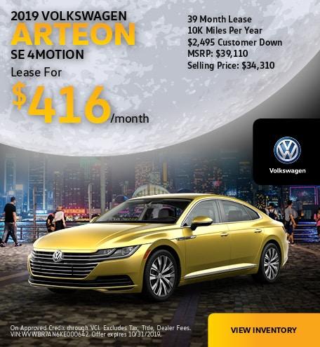 2019 Arteon Oct Offer