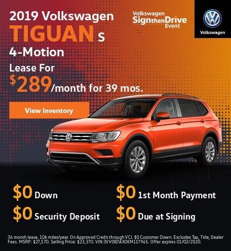 2019 Volkswagen Tiguan S 4-Motion
