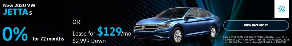 New 2020 VW Jetta S