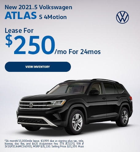 New 2021.5 Volkswagen Atlas S 4Motion
