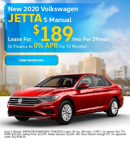 New 2020 Volkswagen Jetta S Manual