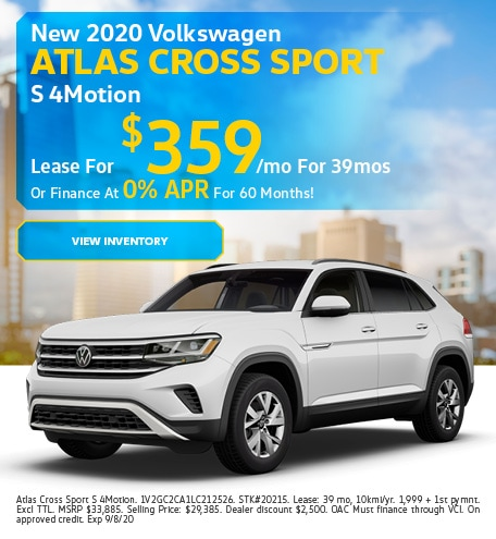 New 2020 Volkswagen Atlas Cross Sport S 4Motion