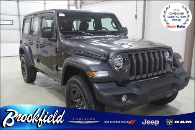 New 2018 Jeep Wrangler UNLIMITED SPORT 4X4 Sport Utility for sale in Benton Harbor MI