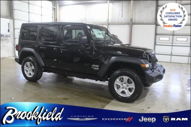 New 2019 Jeep Wrangler UNLIMITED SPORT S 4X4 Sport Utility for sale in Benton Harbor MI