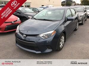 2015 Toyota Corolla LE BAS KM*CAMÉRA DE RECUL*75.46$/SEM