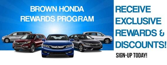 Brown Honda | Rewards Program