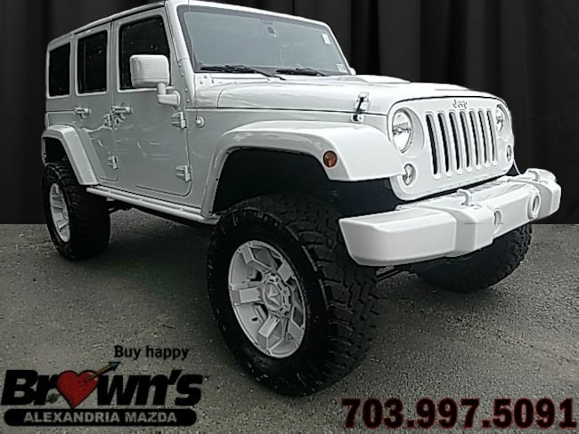 Used 2015 Jeep Wrangler Unlimited Altitude 4x4 White Edition In