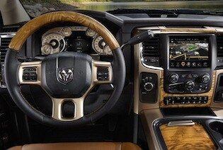 Interior of the 2017 RAM 2500