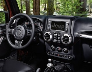 Cabin of the 2017 Jeep Wrangler Unlimited