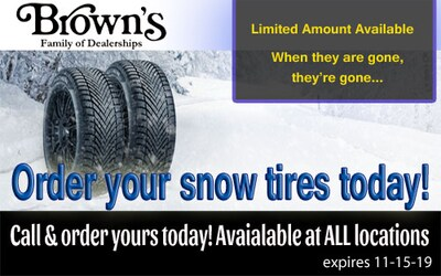 Order your snow tires today!