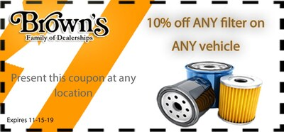 10% Off Any Filter on Any Vehicle