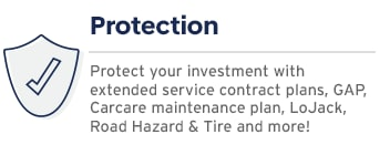 vehicle protection plans and packages