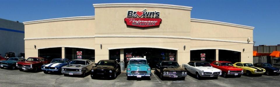 brown 39 s performance motorcars classic muscle car dealer baltimore md washington dc. Black Bedroom Furniture Sets. Home Design Ideas